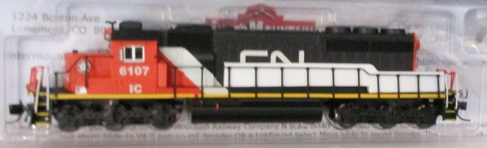Intermountain Escala N-nacional canadiense IC SD40-2  6107 DCC Sonido 69335S-02
