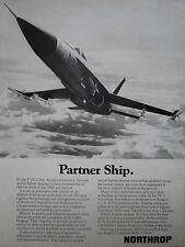 6/1974 PUB NORTHROP P-530 COBRA ADVANCED TACTICAL FIGHTER YF-17 ORIGINAL AD