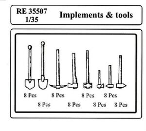 ATTACK HOBBY KITS RE 35507-1//35 IMPLEMENTS /& TOOLS RESIN KIT