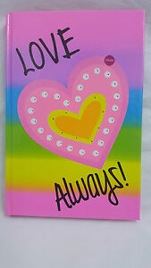 LED Kids Girls Boys Love Always Heart Flashing Diary Notebook Pink Rainbow Book