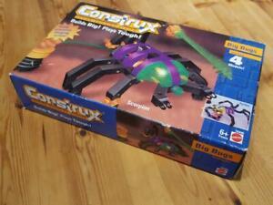 Nouveau Construx Big Bugs 4 Modèles Mattel Boxed Circa Mil 90's Scorpion 16440 Retro 74299164408