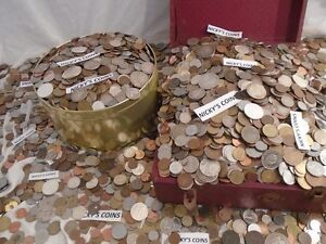 Huge Old Us World Coin Collection Sale Estate Gold Silver Coins By The Pound Ebay