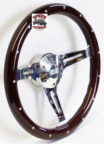 "1969-1973 Chevelle EL Camino steering wheel SS 15/"" DARK MAHOGANY WOOD"