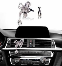 Bling Bling Car Accessories Interior Decoration for Girls - Clear Butterfly Bow