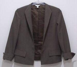 Vintage Womens Austin Reed Dress Jacket Size 12 Brown Wool Made In The Usa 1832 Ebay
