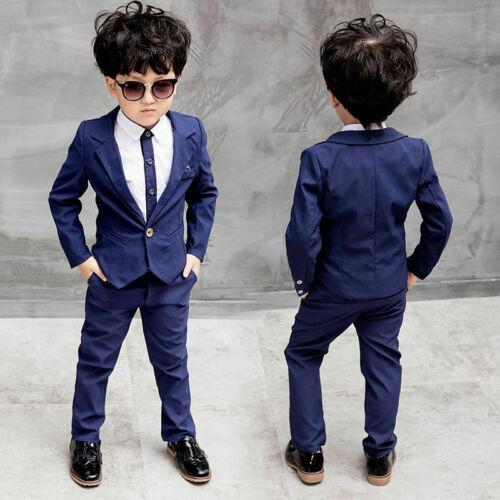 Teenager Kids Boys Formal Suit For Wedding Jackets Concert Suit//Blouse Party Set