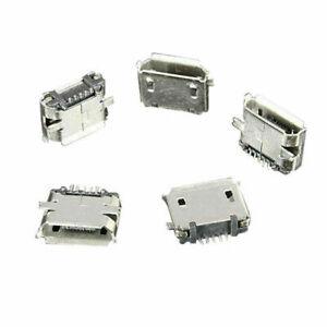 50Pcs-Micro-USB-Type-B-Female-5Pin-SMT-Socket-Jack-Port-Connector-B-PCB-G1Q9