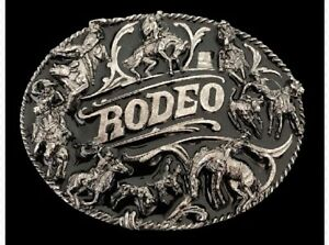 Rodeo-Cattle-Herding-Cowboys-Cowgirls-Western-Belt-Buckle-Buckles