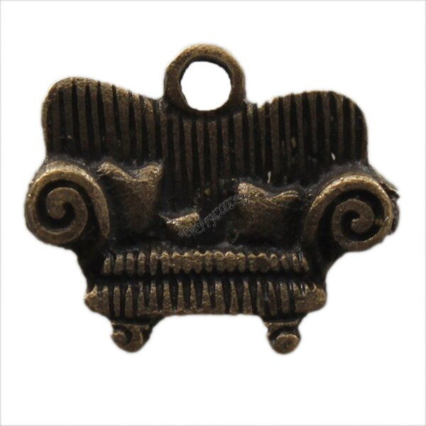 60pcs New Vintage Bronze Sofa Shape Charms Alloy Pendants Findings 144405