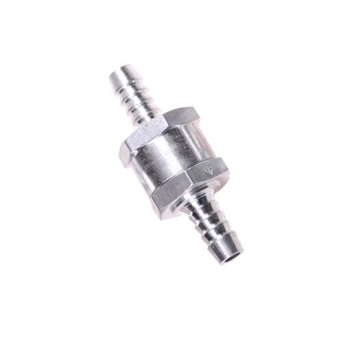 8mm Chrome Aluminium Non-return One Way Check Valve Fuel Diesel Water  TBJB