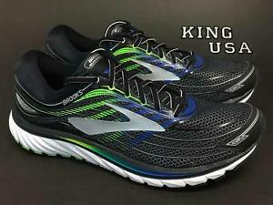 7be7c65fae0 Men s Brooks Glycerin 15 Running Athletic Training Shoes Black Blue ...