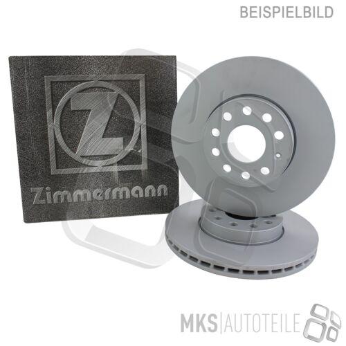 2 x ORIGINAL ZIMMERMANN BREMSSCHEIBEN COAT Z BESCHICHTET HINTERACHSE AUDI VW