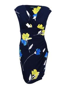 Lauren-by-Ralph-Lauren-Women-039-s-Floral-Print-Sheath-Dress-0-Navy-Multi