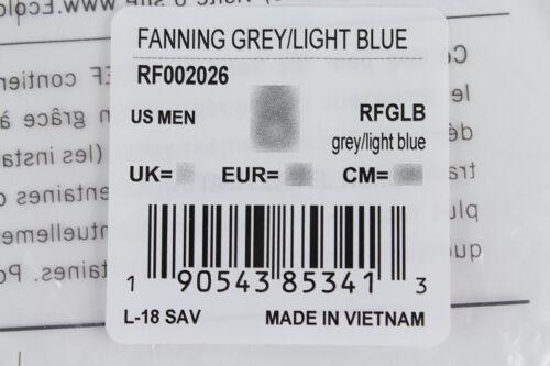 REEF FANNING GRAY//LIGHT BLUE//BLACK FLIP FLOPS THONG SANDALS BEACH MICK MEN SIZES