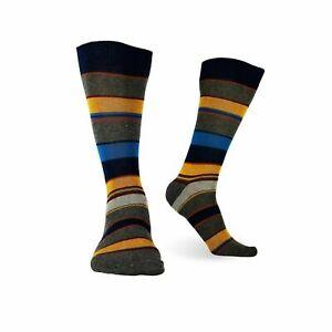 3-Pairs-Mens-Cotton-Dress-Socks-Multicolor-Casual-Crew-Striped-Shoe-Size-8-12