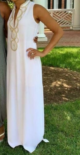 $298 NEW Lilly Pulitzer JANE MAXI DRESS Resort White Embroidered  2 4 6 10 12 16