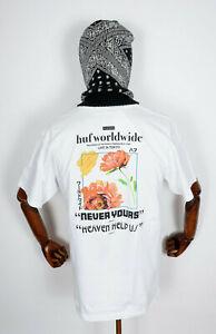 Huf Worldwide Skateboard T-Shirt Tee Never Yours White in M