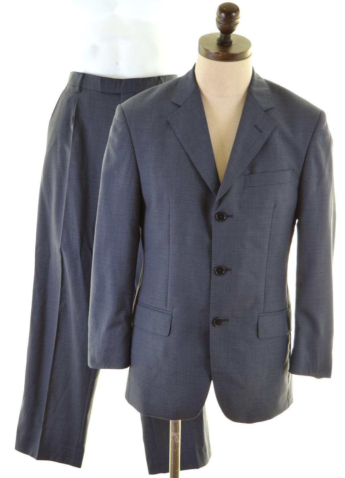 JAEGER Mens 2 Piece Suit Größe 40 Medium W30 L29 Blau  R106    | Praktisch Und Wirtschaftlich  | Haltbar  | Nutzen Sie Materialien voll aus