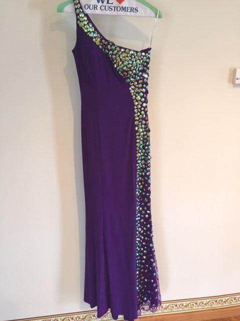Sherri Hill Prom Kläder lila One Shoulder w  Jewels storA 0