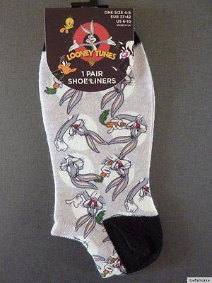 3 Paar Bugs Bunny Hase Damen Socken Sneaker Füßlinge Tweety Bunt 37-42 Primark