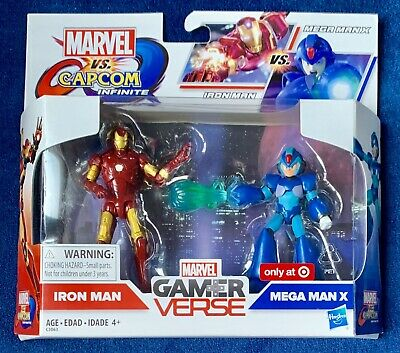 "Hasbro Marvel vs Capcom Gamer Verse Iron vs Mega Man X 3.75/"" inch Action Figure"