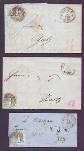 3 lettere Thurn & Taxis Gera Zeitz 1860 - 1 SGR-MINR 15-Michel € 210,00 (881)