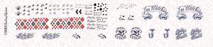 Échelle 1//6 Jared Leto Joker Suicide Squad Tatouage Decals pour 12 in figures environ 30.48 cm