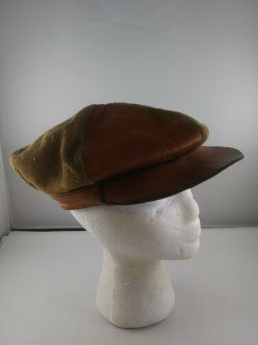 Vintage 1970's Leather Fitted Taxi Driver Cabbie H