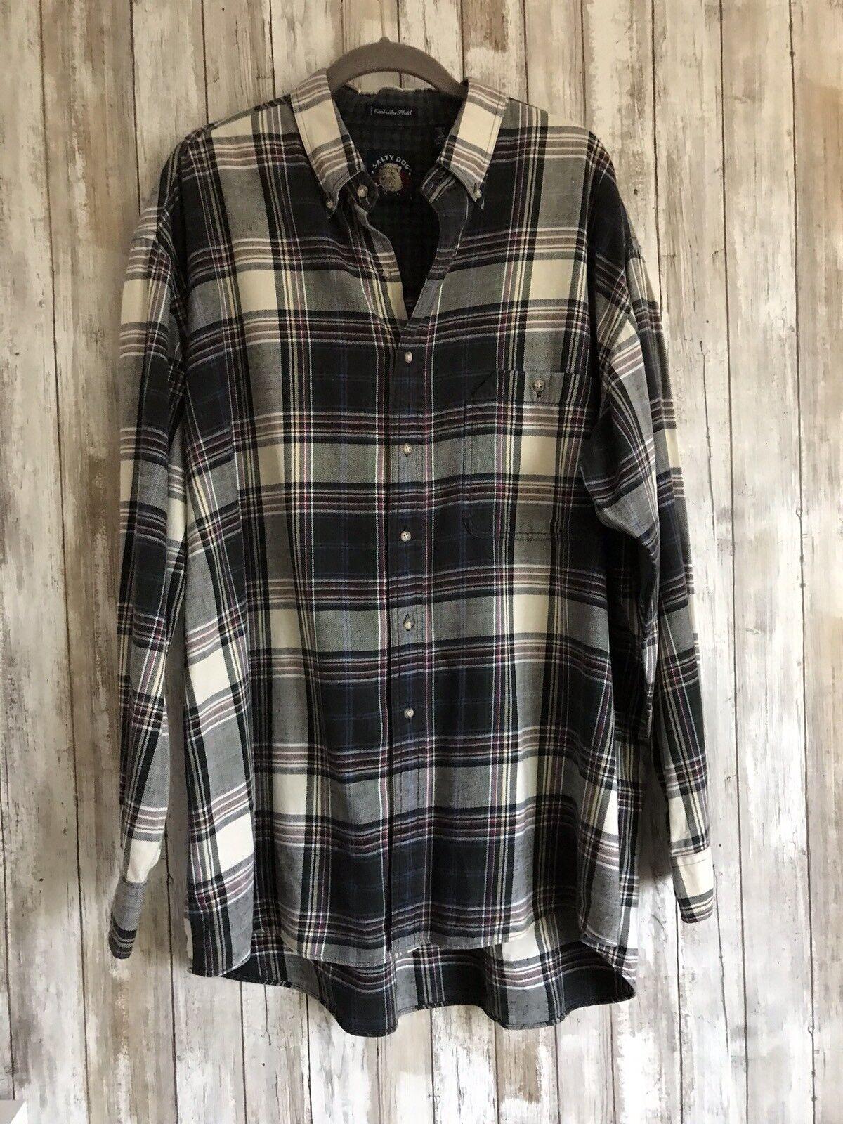 GANT Salty Dog Cambridge Plaid 1X Big Flannel Shirt Button Down Long Sleeve