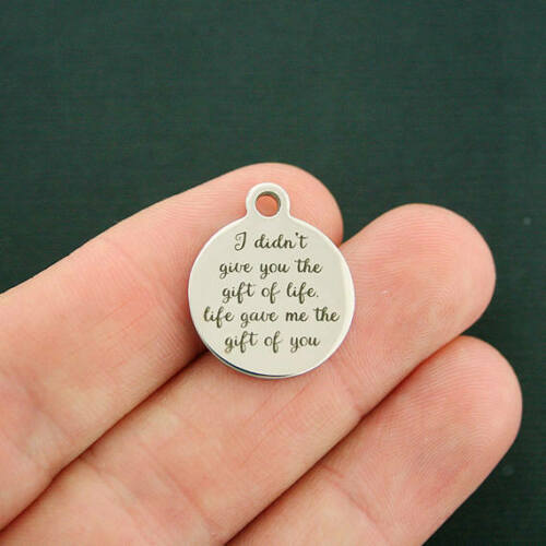 BFS1355 Mother Stainless Steel Charms Life gave me the gift of you