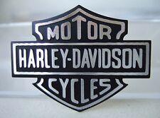 Harley-Davidson Aufkleber Emblem Bar & Shield aluminium schwarz 44,5x34mm