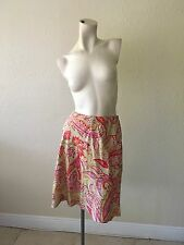 TALBOTS Petites 100% Tencel Lyocell Multi-color Skirt Made In Korea Size 8