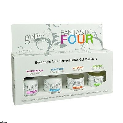 NEW PACKAGING Harmony Gelish -Fantastic Four -Base, Top, Nourish & pH Bond 15ml