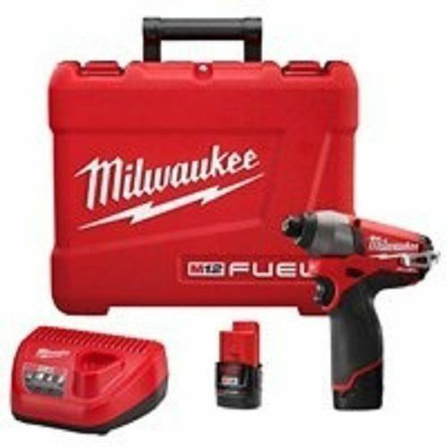"NEW MILWAUKEE 2453-22 M12 FUEL 12 VOLT CORDLESS 1//4/"" HEX IMPACT DRILL KIT  SALE"