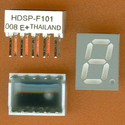 14× HDSP-F101 7 SEGMENT LED DISPLAY 10mm RED COMMON ANODE CA LOW CURRENT DIP-10†