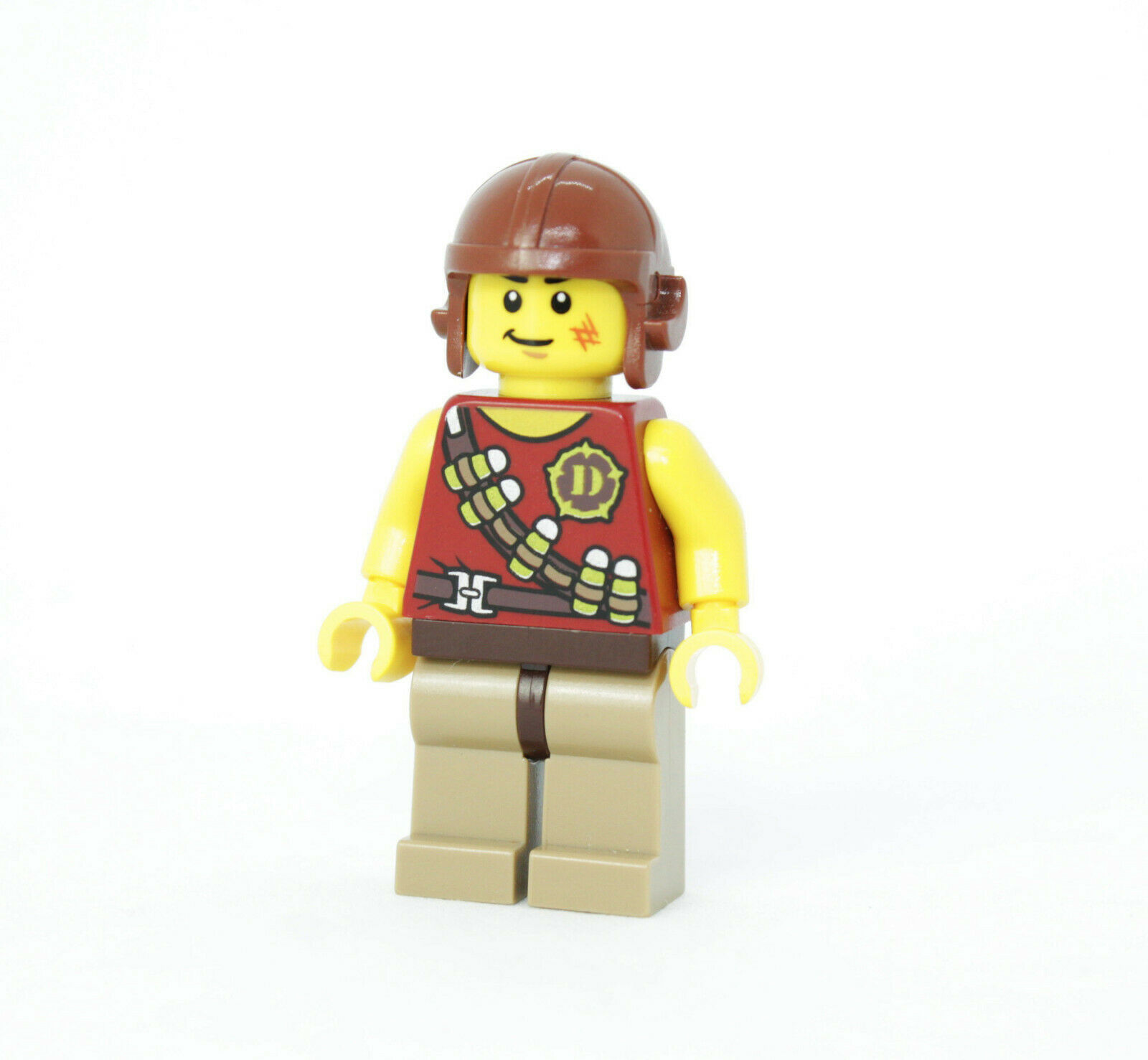 LEGO Dino Hero Tranquilizer Belt Minifigure Brown Aviator Helmet