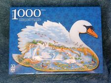 FX Schmid 1000 Piece Swan  Lake Shaped Puzzle New Joyce Cleveland