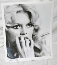 BRIGITTE BARDOT VINTAGE 8X10 PHOTO DATED 1958 FINGERS IN MOUTH CLOSEUP