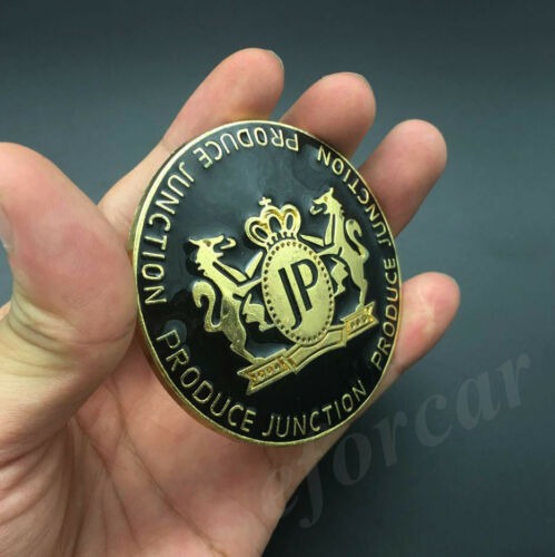 Gold Metal JUNCTION PRODUCE JP Luxury VIP Car Trunk Badge Emblem Decal Sticker