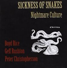 "SICKNESS OF SNAKES [BOYD RICE + COIL] Nightmare Culture 12"" VINYL 2012"