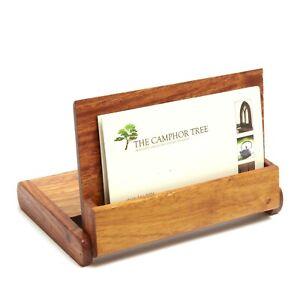 Details Zu Slim Wooden Pocket Business Card Holder