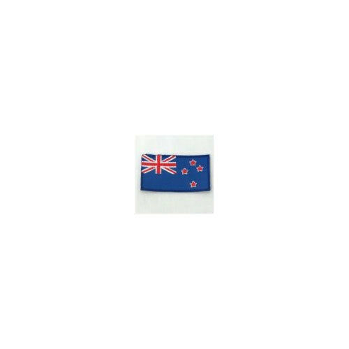 NEW ZEALAND COUNTRY FLAG IRON-ON PATCH CREST BADGE 1.5 X 2.5 INCH