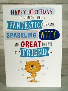 Happy Birthday To Someone Who's Fantastic Sparkling Witty Great Friend, Cat