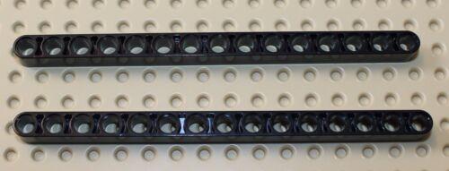 Lego Technic Black Liftarm 1x15 2 pieces NEW!!!