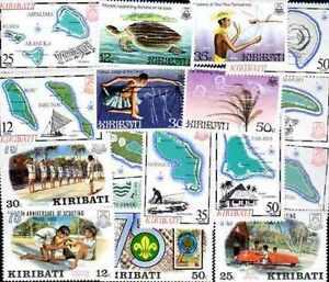 KIRIBATI-colecciones-25-100-sellos-diferentes