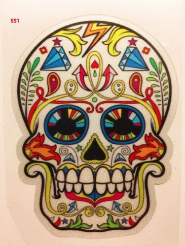 Sugar Skull Sticker Day of The Dead Decal Sticker Car Truck Window Laptop Guitar