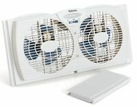 Holmes Twin Window Fan Reversible Dual Blade Exhaust Adjustable Portable Fans