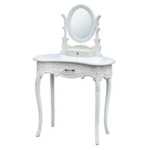 ANTIQUE-WHITE-CREAM-SHABBY-CHIC-FRENCH-DRESSING-TABLE-amp-MIRROR-SET-RG-303-AW