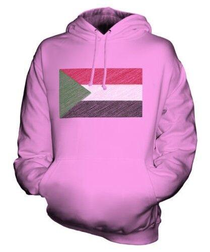 Soudan Griffonnage Drapeau Sweat à Capuche Unisexe Haut Cadeau Comme-Soudan