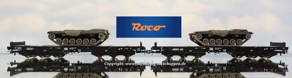 H0-Roco 76161 2tlg. ejército alemán vehículos pesados de transporte con 2 Artitec m48 tanques